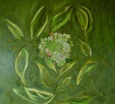 Hydrangea (Hortensie), oil on canvas, Öl auf Leinwand von Sabine Katterle