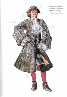 Peter I of Russia paper doll (2 of 12)