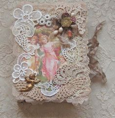 Shabby Chic Altered Vintage Box for Trinkets or by KISoriginals, $35.00