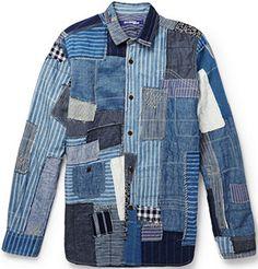 Junya Watanabe Patchwork Denim Men's Shirt: US$1,585.