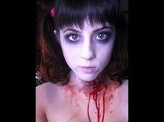 Image result for halloween zombie makeup girl
