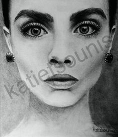 Drawing of Cara Delevingne