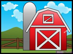 How to Draw a Barn, Step by Step, Buildings, Landmarks & Places, FREE Online Drawing Tutorial, Added by Dawn, September 24, 2008, 2:56:35 pm