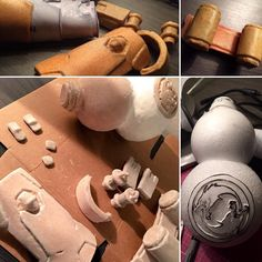 Overwatch Hanzo cosplay prop build!  Some shots of making Hanzo's arm/wrist and finger guards gourd and quiver chest strap.  Draft -> Build base -> Worbla/wonderflex -> Gesso/sand -> Finish/paint  Cosplay and props made by us.  #overwatch #hanzo #overwatchcosplay #cosplay #hanzocosplay #cosplayprops #blizzard #blizzcon #cosplayboots #boots #armor #cosplayarmor #costume #videogamecosplay #worbla #worblasfinestart #wonderflex #costume #cosplaywip #overwatchhanzo #gourd #blizzardcosplay