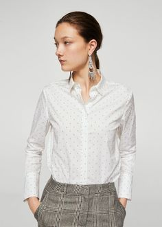 Discover the latest trends in Mango fashion, footwear and accessories. Online Shops, Printed Cotton, Jeans, Latest Fashion Trends, Ideias Fashion, Plaid, Style Inspiration, Shirts, Mango Fashion