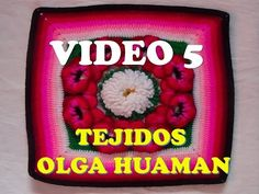 "colcha a crochet: video 5, muestra "" pensamiento"" - YouTube"