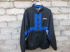 Adidas Jacket Nylon Windbreaker Sport by RetroVintageClothing