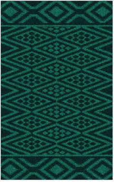Natural Fiber Rectangle Teal Color Surya Aztec Collection