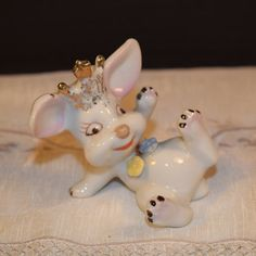 Wacky Bunny Figurine Vintage Funny Bunny by ShellysSelectSalvage