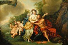 "necspenecmetu: "" Franz Christoph Janneck, Jupiter and Juno, 18th century """