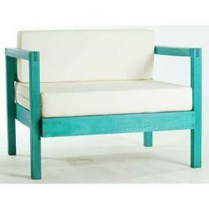 Sofá Lazy Módulo 1 Lugar com Almofada 01.237 Azul Mão e Formão