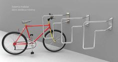 The 45Bici Bike Rack Conserves Space on Crowded City Sidewalks #design #Creativity trendhunter.com