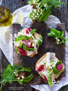 Herring Beetroot  Arugula Open Sandwich