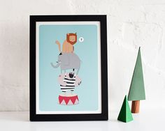 Circus illustration  A4 art print by pygmycloud on Etsy, £14.00