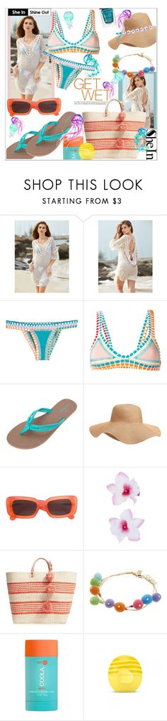 """""""Wet Weather"""" by jckallan ❤ liked on Polyvore featuring kiini, Volcom, Old Navy, Linda Farrow, Accessorize, Mar y Sol, Rebecca Minkoff, COOLA Suncare, Eos and Gucci"""