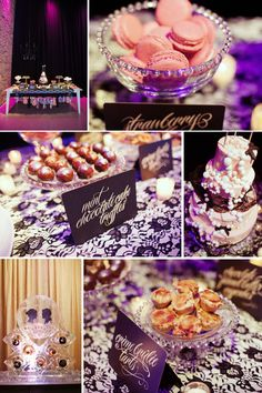 Dessert table and wedding cake by 2tarts!   www.2tarts.com