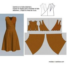 DIY Women's Clothing : Sewing dress …♥ Deniz ♥ -Read More –♥ Deniz ♥ top wrap onlyThe best DIY projects & DIY ideas and tutorials: sewing, paper craft, DIY. Sewing Dress, Dress Sewing Patterns, Diy Dress, Sewing Patterns Free, Sewing Clothes, Sewing Tutorials, Clothing Patterns, Wrap Dress, Fashion Sewing