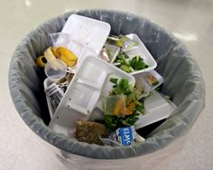 Where to begin? Styrofoam trays, milk cartons that are not being recycled, so much waste, so little nutrition! No time to eat, deafening loud cafeterias quieted by the shriek of whistles and threats of punishment. No easy answers.