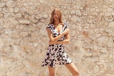 Magdalena Frackowiak wears floral print dress from Mister Zimi's spring 2019 collection Holiday Dresses, Spring Dresses, Magdalena Frackowiak, Lifestyle Clothing, Chic Dress, Resort Wear, 70s Fashion, Spring Collection, Summer Looks