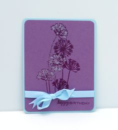 Floral Fusion (Papertrey); Agapanthus Cluster (Stampendous): Spring Rain Satin ribbon (Papertrey); stardust stickles (Ranger); Corner Chomper