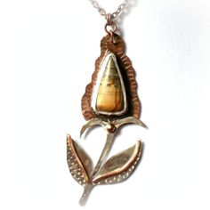 Teasel Pendant with Succor Creek Jasper by CityRusticJewelry, $115.00