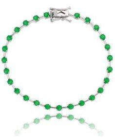 pulseira riviera esmeralda com banho de rodio acessórios femininos online