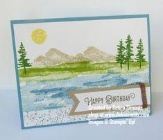 Stampin Up Waterfront masculine birthday card - Debra Simonis Stampinup