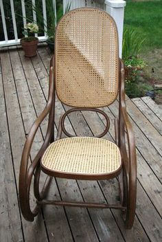 how to recane that bentwood rocker i just inherited & Pimp My Furniture: Rocking Chair Revival- Part I | Bentwood rocker ...