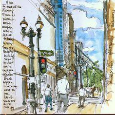 Susan Cornelis (@susancornelis) в Instagram: «My most ambitious urban sketch to date! On La Salle St in front of the Rookery at lunch hour.…» #paint #painting #sketch #drawing #sketching #sketchbook #travelbook #arch_more #archisketcher #sketchaday #sketchwalker #sketchcollector #artbook #artjournal #traveldiary #topcreator #usk #urbansketchers #urbansketch #скетчбук #скетч #скетчинг #артбук #трэвелбук #городскиезарисовки #пленэр #pleinair #aquarelle #watercolorsketch #usk #architecture