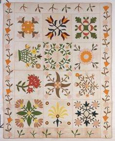 McCallum, Laura. Friendship Quilt. 1855. From North Carolina Museum of History, North Carolina Quilt Project. The Quilt Index