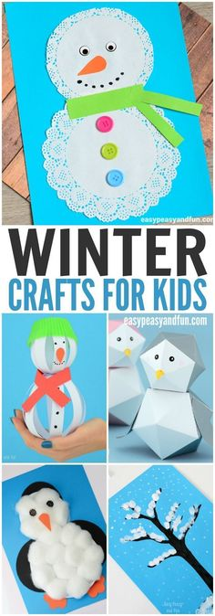 Crafts for Kids to Make - Fun Art and Craft Ideas for All Ages Need some winter crafts to fill the cold Christmas break? Check out this fun list!Need some winter crafts to fill the cold Christmas break? Check out this fun list! Winter Crafts For Kids, Winter Kids, Crafts For Kids To Make, Art For Kids, Art Children, Easy Kids Crafts, Preschool Winter, Simple Crafts, Christmas Activities