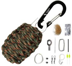 The Friendly Swede Paracord Karabiner Survival-Kit mit Messer…