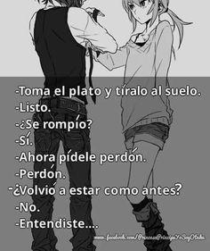 Me facino 👌 Sad Anime, Anime Love, Kawaii Anime, Im Sad, Sad Love, Spanish Quotes, Love Quotes, Deep Quotes, Thoughts