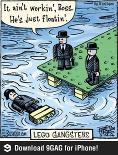 Lego Gangsters - Wouldn't it be fun to work in a Lego Factory? Well, for a day or two anyway!  :)  This is funny!
