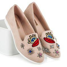 Semišové topánky s kamienkami F9332BE