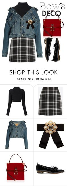 """""""Bow Deco"""" by ivansyd ❤ liked on Polyvore featuring Balmain, J.Crew, Balenciaga, Cara Accessories, Henri Bendel, Nicholas Kirkwood and bows"""