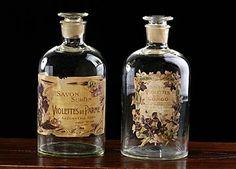 Large french antic perfume jars.  #