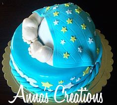 Baby bottom cake!