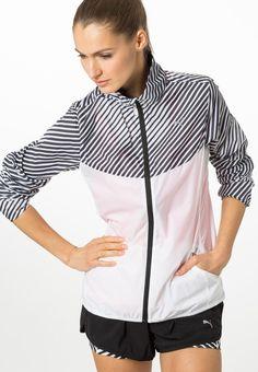 Puma Sports jacket - white/black for with free delivery at Zalando Puma Sport, Sports Jacket, Hooded Jacket, Shirt Dress, Free Delivery, Mens Tops, Jackets, Shirts, Black