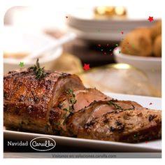 Lomo de cerdo glaseado con salsa de lulo