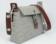 Fieltro bolso con doble encima bolso del fieltro por Rambag en Etsy