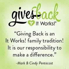 It Works Global gives back! Every year it's a tradition as an It Works Distributor that you be a part of some program/benefit to give back. This September, we were able to help feed 60,000 kids through Children's Cup! What a great feeling and the lives that are being touched!  #love #giveback #newlifebodywraps #itworksglobal