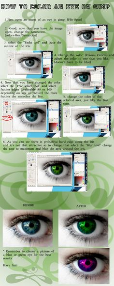 Eye Coloring Tutorial on GIMP by Evolved-Monkey.deviantart.com on @deviantART