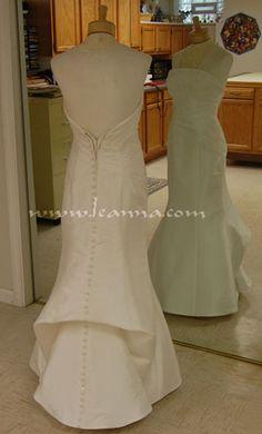 Same Dress: French pick-up bustle