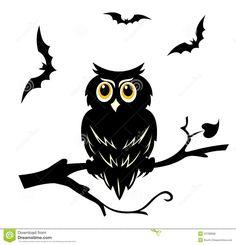 Illustration about Black halloween owl on the branch of tree. Illustration of horror, autumn, ghost - 23798996 Image Halloween, Halloween Owl, Halloween Vector, Halloween Painting, Halloween Pictures, Halloween Crafts, Owl Illustration, Halloween Illustration, Illustrations