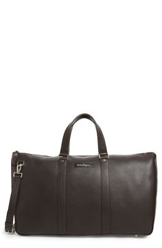 Salvatore Ferragamo 'Keepers Pelle 2' Leather Duffel Bag