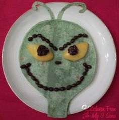 Kitchen Fun With My 3 Sons: You're a tasty one, Mr. Grinch! Easy to make Grinch Quesadilla!
