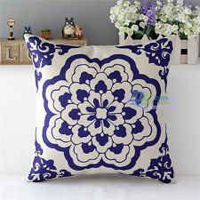 Fashion Linen Throw Pillow Case Home Decor Cushion Cover Square Chinese Style[Floral]