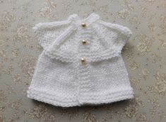 EVIE Baby or Baby Doll All-in-One Tops (marianna's lazy daisy days) Baby Cardigan Knitting Pattern Free, Knitting Stiches, Easy Knitting Patterns, Baby Patterns, Baby Knitting, Knitting Ideas, Stitch Patterns, Preemie Clothes, Knitting For Charity