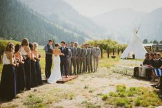Squaw Valley Stables wedding ceremony with a tipi (teepee) in Lake Tahoe.